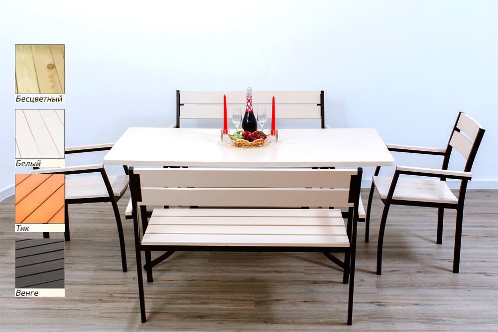 комплект стелла стол 2 стула 2 скамейки мебель для