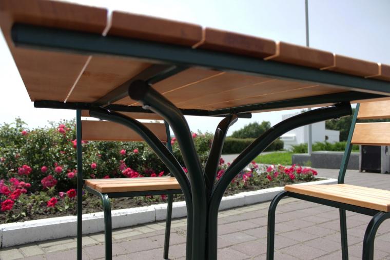 стол деревянный металл каркас